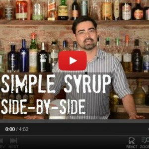 Using Simple Syrup in Mixology