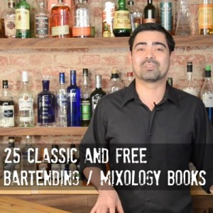 Classic Bartending Books List