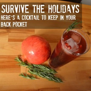 Seasonal fall cocktail for the holidays