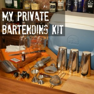 What I bring when bartending a private event