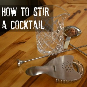 Proper Technique for Stirring a Cocktail