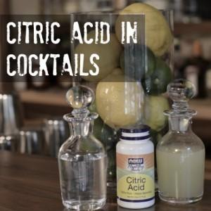 Replacing Citrus juice with citric acid in cocktails