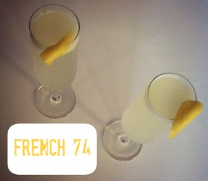 French 75 with soda water