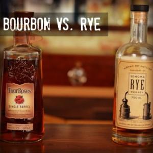 Four Roses Single Barrel Bourbon and Bulleit Rye